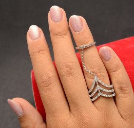 Inel Din Argint Oriental Chains ARG37A