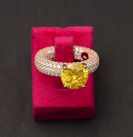 Inel din argint Perfect Engagement Ring Yellow ARG349