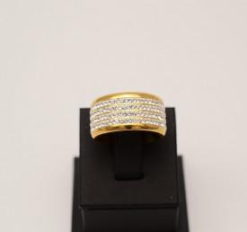 Inel inox tip verigheta Dama cu Pietricele IF579A