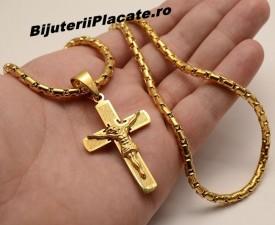 LANT CU CRUCIULITA INOX GOLD EDITION LC170