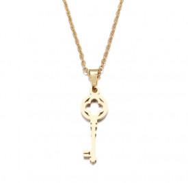 Set Lant+ pandantiv Lover's Fashion Key GOLD---FINUT --- Cod LC232E
