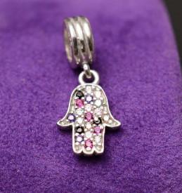 Talisman din argint Multicolor Fatima Hand CHA1023