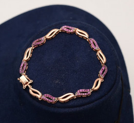 Bratara din argint Gold Pink Arg303