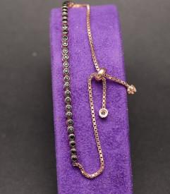 Bratara din argint Sparkling Tennis Rose Gold Black Arg181A