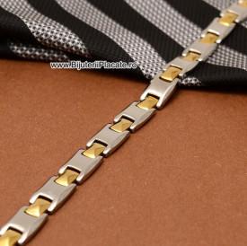 Bratara Inox In Doua Culori Moderna B883G