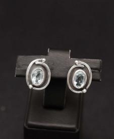 Cercei Argint Clasici si Pietre Semipretioase Naturale de Turcoaz ARG169A