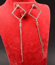 Cercei din argint Elegant Chains Romb -cod ARG193A