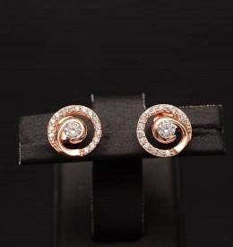 Cercei din argint Fashion Diamond Golden ARG339C
