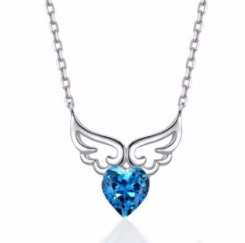 Colier Din Argint Angel Heart Topaz ARG68A