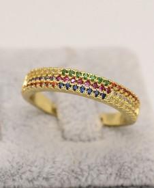 Inel inox auriu Multicolor Cod IF648P