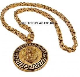 Lant inox si Medalion -LION- LC10E