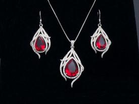 Set din argint Elegant Ruby cod Set188