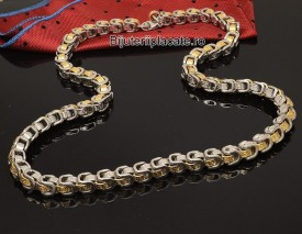 Lant inox Auriu si Argintiu L96