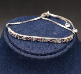 Bratara din argint Sparkling Multicolora Glamour ARG185A