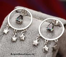 Cercei Din Argint Midnight ARG126