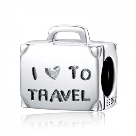 Charm Aargint 925 -Travel LUGGAGE- cha1076A