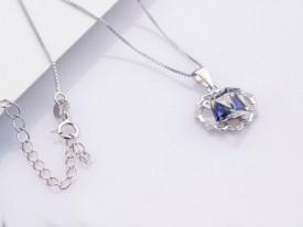 Colier din argint Crystal Blue Silver 925