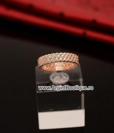 Inel Argint ROZ -- ZIRCONIU -- Arg167