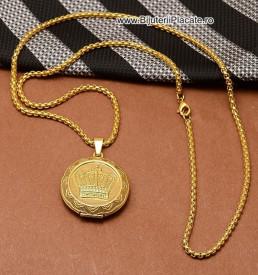 Lant cu Medalion -COROANA- pentru Forografie LC359C