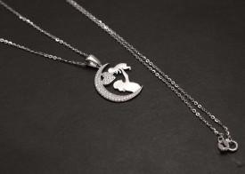 Lant din Argint 925 cu pandantiv din argint Mother and Child ARG264