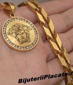Lant inox si Medalion Medusa Versace LC15J