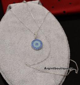 Lantisor Cu Pandativ DIn Argint -- BANUT MULTICOLOR-- ARG146