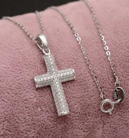 Lantisor Finut Din Argint Si Cruciulita Superba Arg259