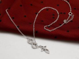 Lantisor si pandativ din Argint LOVE IS INFINTE