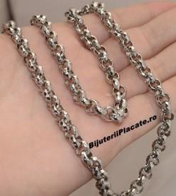 Set lant+Bratara inox Argintiu cod S195