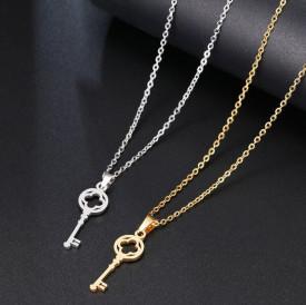 Set Lant+ pandantiv Lover's Fashion Key SILVER---FINUT --- Cod LC232F