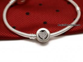 Talisman din argint- INIMA LOVE-CHA1011