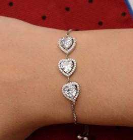 Bratara Din Argint --SHINY HEART- ARG209