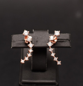Cercei Argint Shining Star Track Pink ARG337A