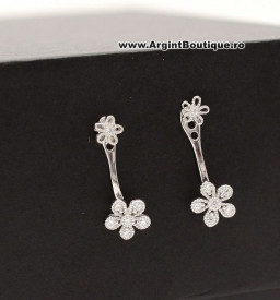 Cercei Din Argint - Sparkling Flowers - cod ARG178