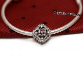 Charm Argint 925 -PIATRA ROSIE- cha1040