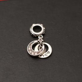 Charm argint love&moon (iubire&luna) CHA1081
