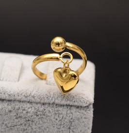 Inel inox auriu -Heart- Cod IF648J