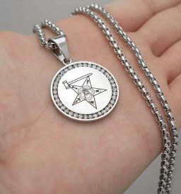 Lant Inox Medalion Argintiu LC58