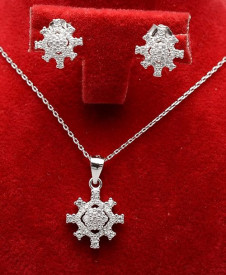 Set din argint cu rodiu si cristale cod SET306