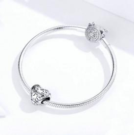 Talisman din argint -Heart- CHA1015A