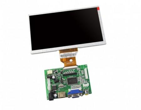 Poze Display 9 inch Raspberry pi HDMI VGA AV LCD 1024x600 IPS