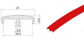 Bordura PVC rosu