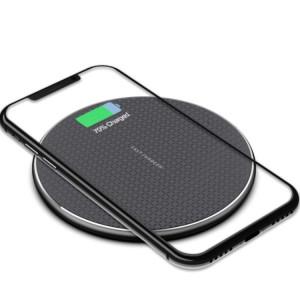 Încărcător wireless universal pentru telefon mobil cu cablu de 1 m (negru)