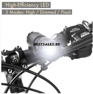 Lanternă impermeabilă pentru bicicletă
