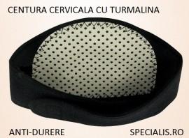 Poze Centura CERVICALA, cu TURMALINA PIATRA SOARELUI, pentru ceafa/gat, anti-durere
