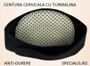 Centura CERVICALA, cu TURMALINA PIATRA SOARELUI, pentru ceafa/gat, anti-durere