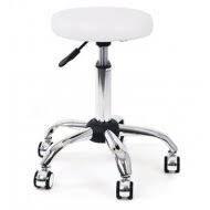 Slika Pomoćna stolica Y 885 Bela niklovano postolje