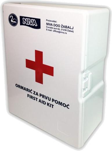 Zidna apoteka-ormarić za prvu pomoć sa punjenjem tip Niva 1