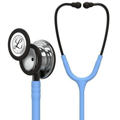Slika 3M™ Littmann® Classic III™ Monitoring Stethoscope, Mirror Chestpiece, Ceil Blue Tube, Smoke Stem and Smoke Headset, 27 inch, 5959