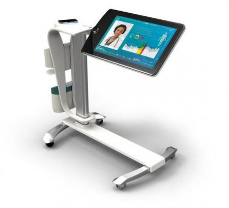 Slika Hospital trolley, Portable Mobile Laptop Desk 4
